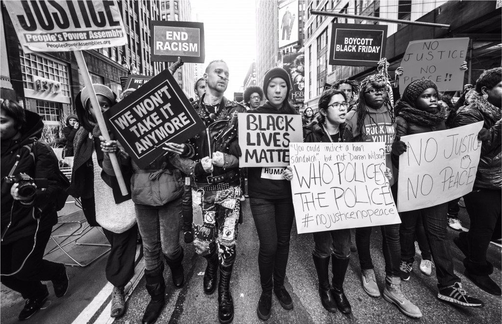 RICHARD ALLEN DUCREE BLACK LIVES MATTER PROTEST NYC 2014 PHOTO 1