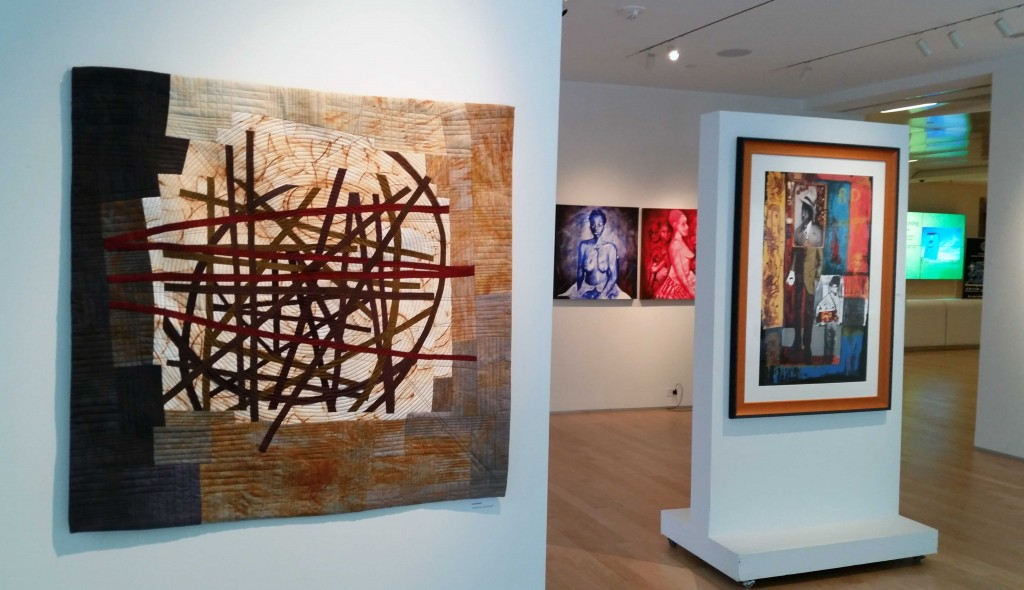 INSTALLATION SHOT FEATURING WORK OF JUDY KIRPICH-NAJEE DORSEY- CHARMAINE MINNIEFIELD